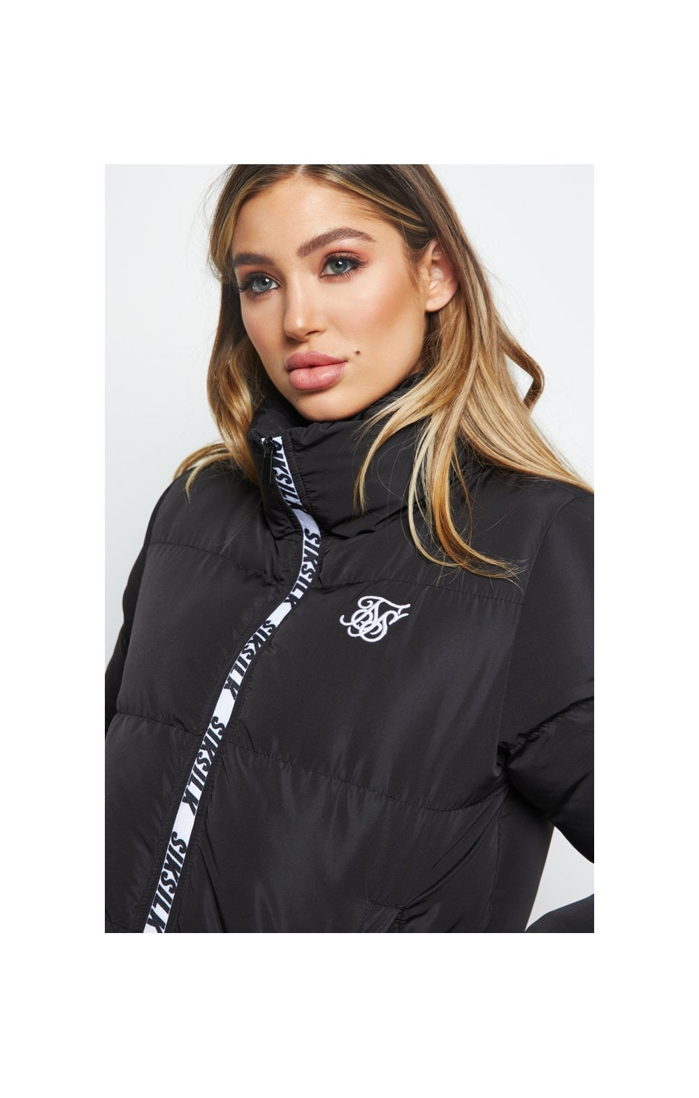 SikSilk Padded Crop Jacket - Black (1)