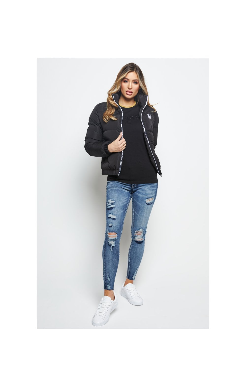 SikSilk Padded Crop Jacket - Black (4)