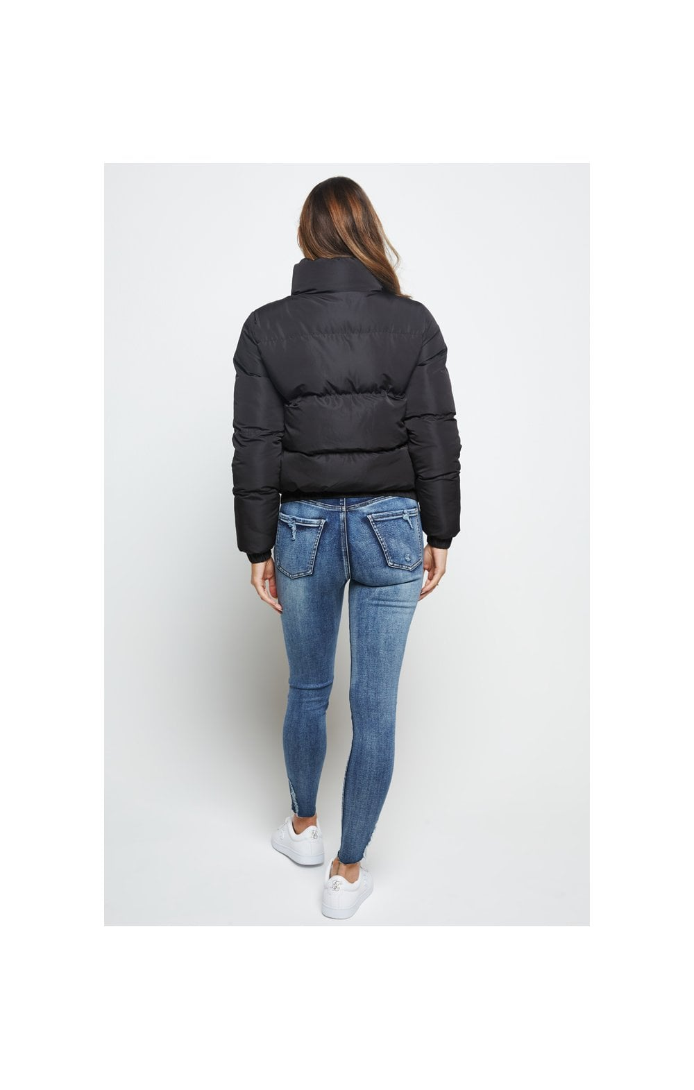 SikSilk Padded Crop Jacket - Black (6)