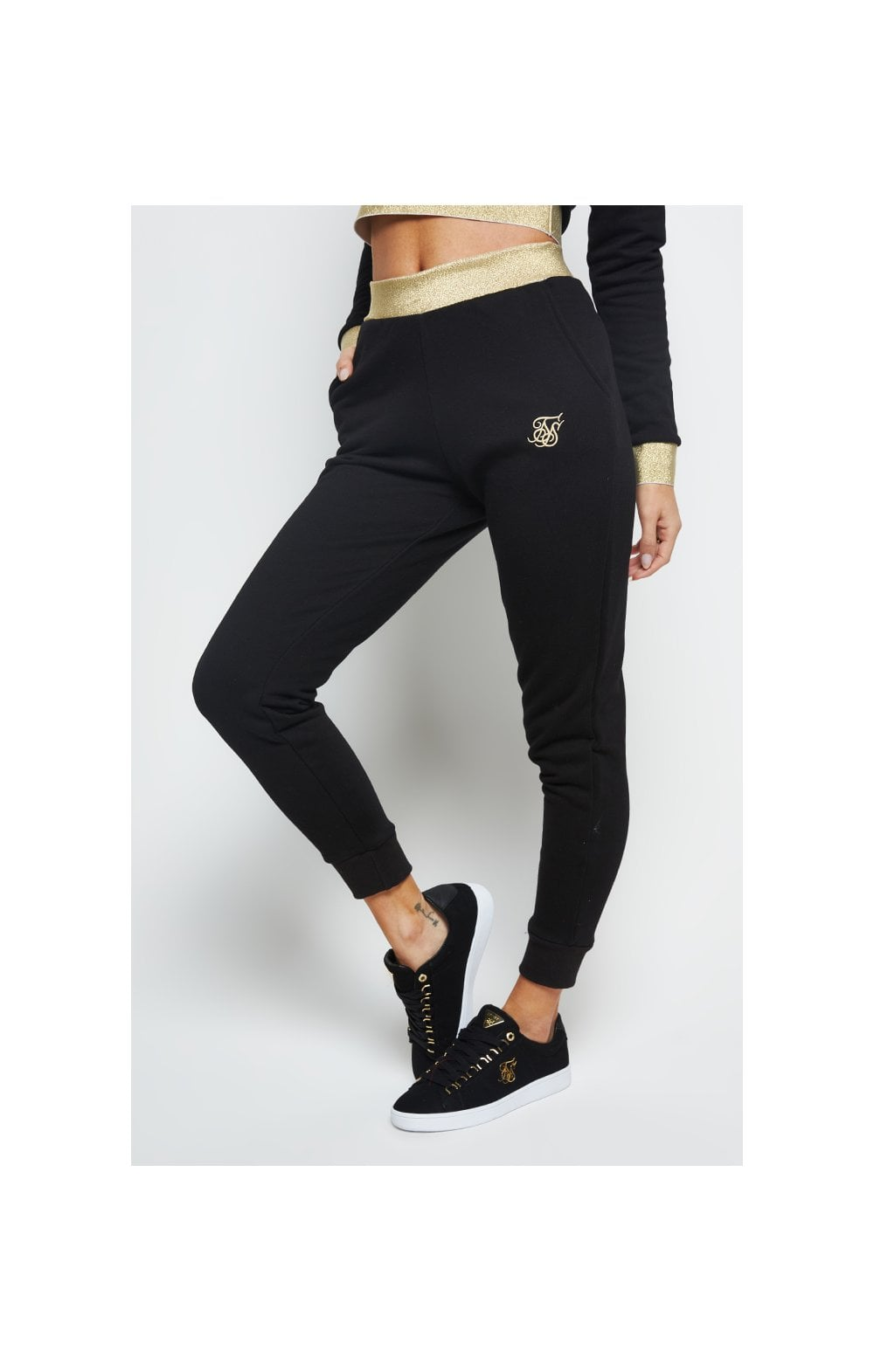 SikSilk Taped Jogger - Black