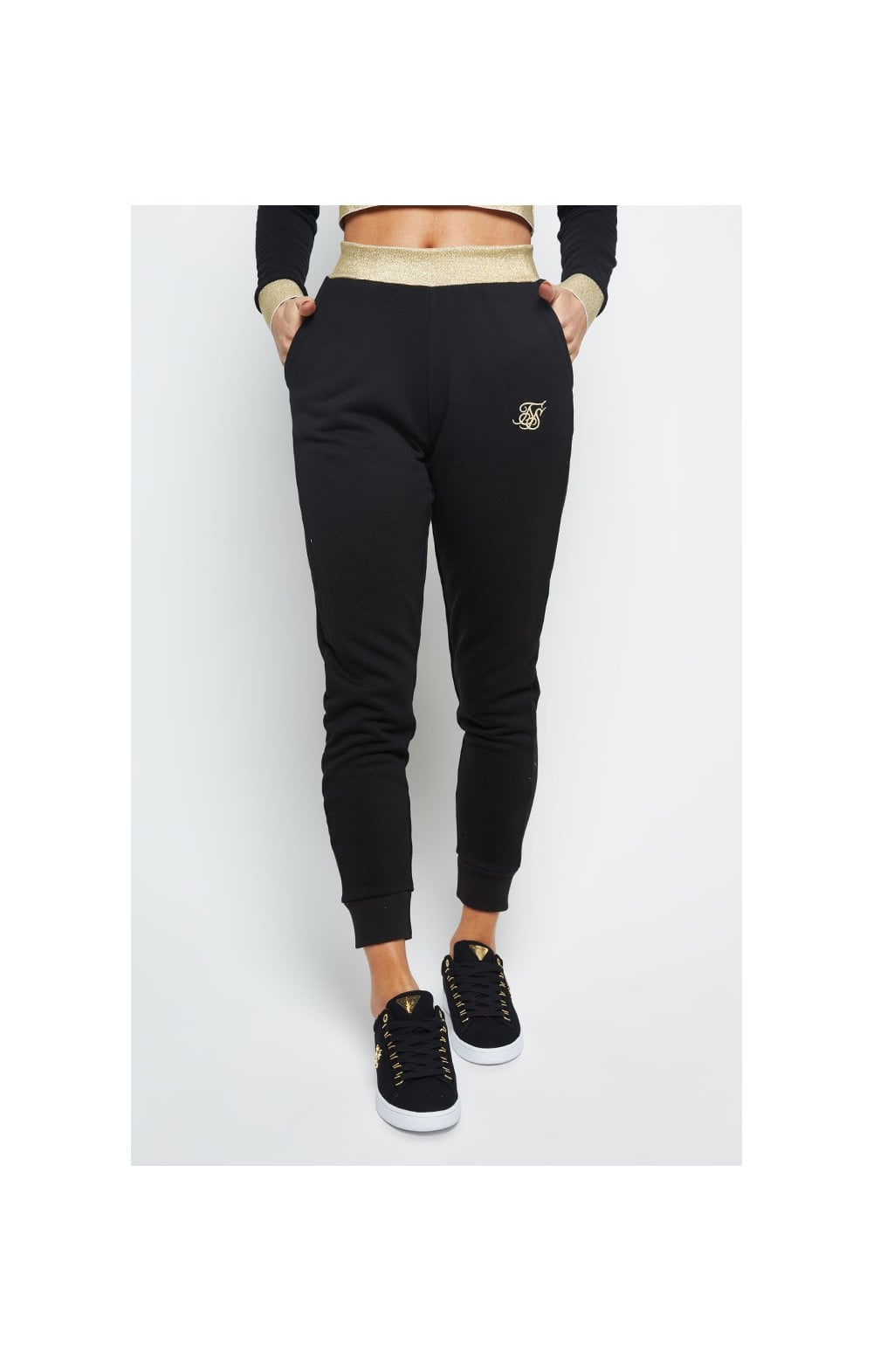 SikSilk Taped Jogger - Black (1)
