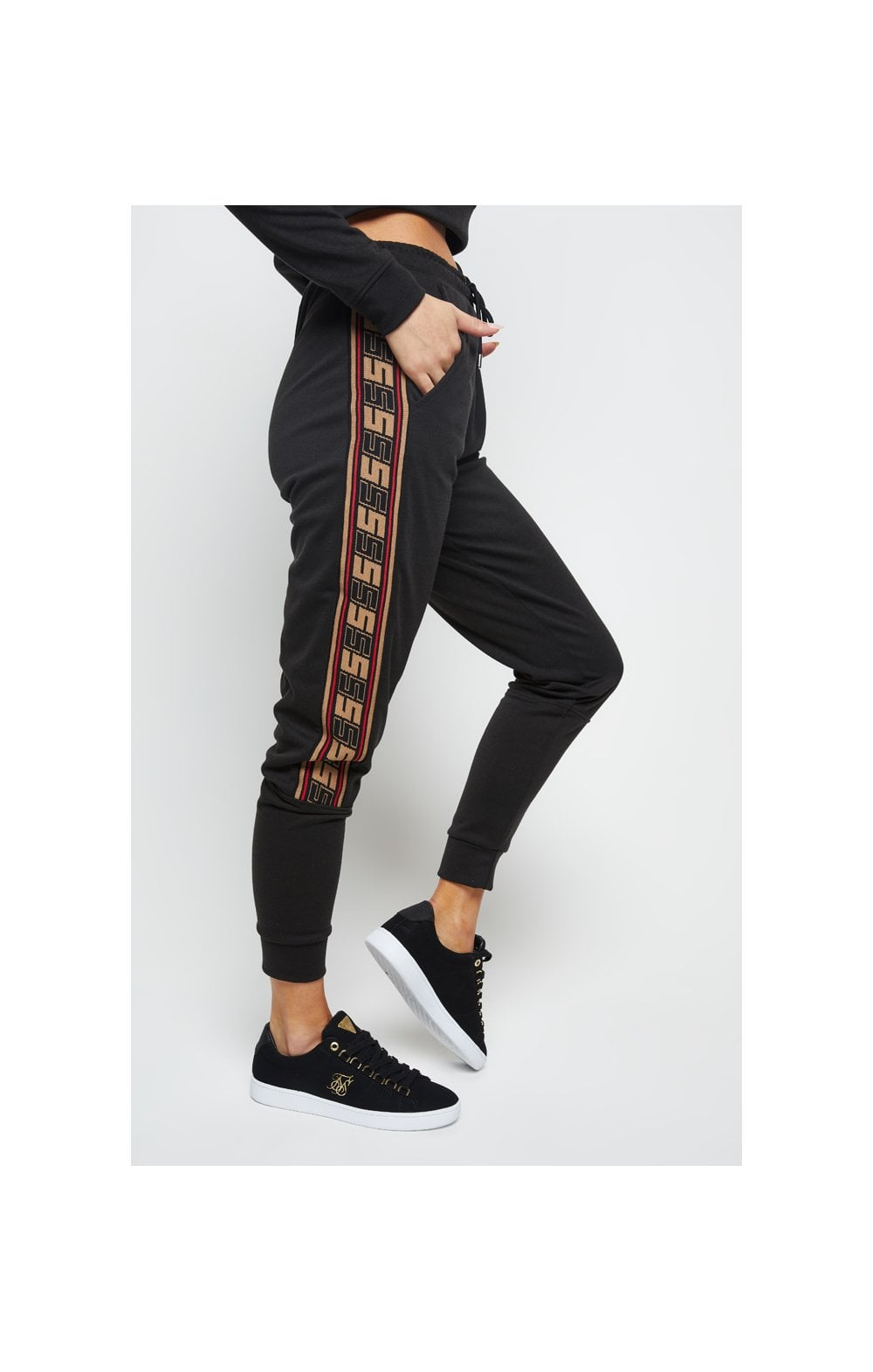 SikSilk Distinction Track Pants - Black