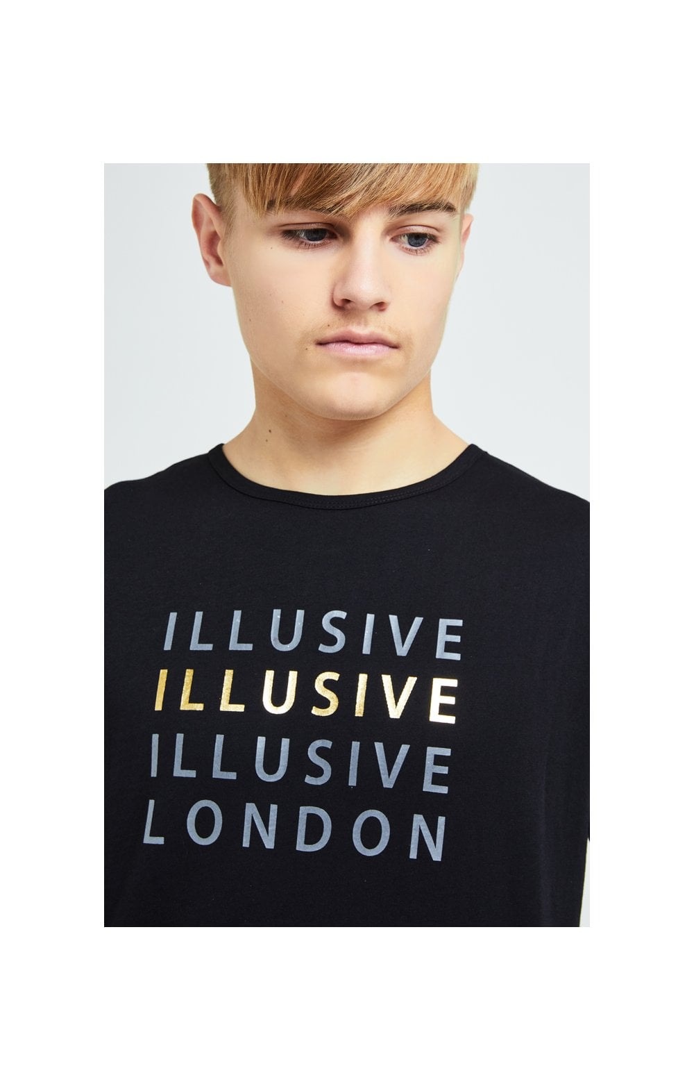 Illusive London Sovereign Tee - Black & Gold