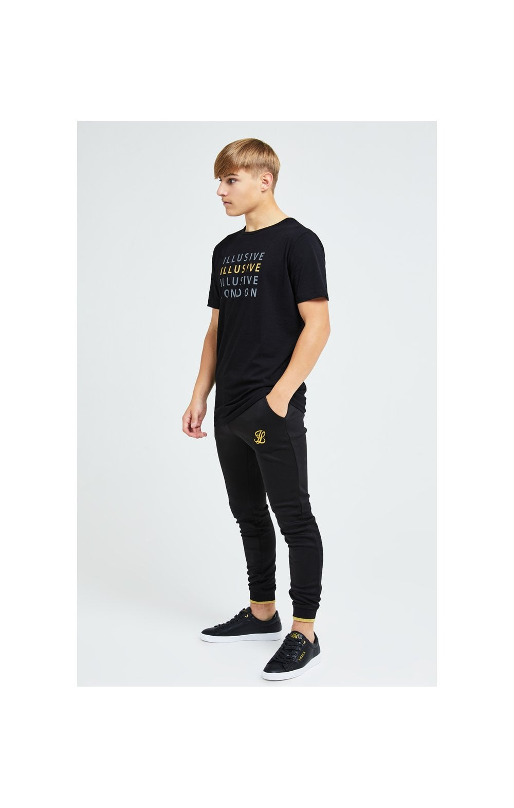 Charger l'image dans la galerie, Illusive London Sovereign Tee - Black & Gold (2)