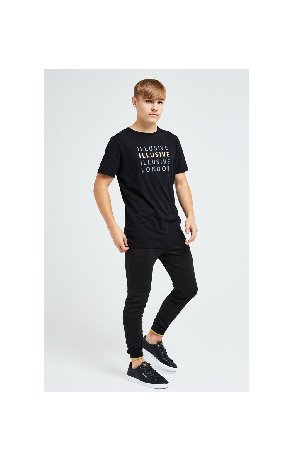 Charger l'image dans la galerie, Illusive London Sovereign Tee - Black & Gold (4)