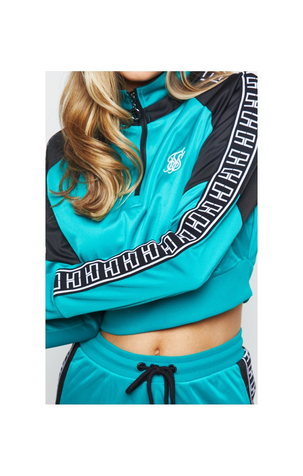 SikSilk Azure Track Top - Teal (1)