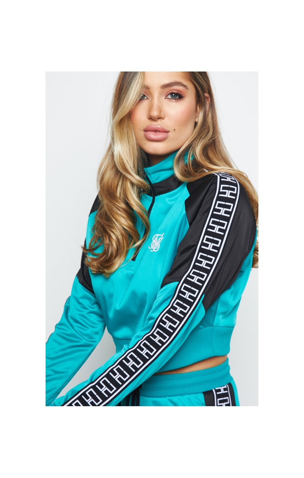 SikSilk Azure Track Top - Teal (2)