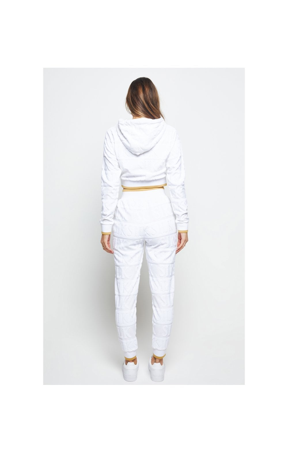 SikSilk Inverse Cropped Hoodie - White (6)