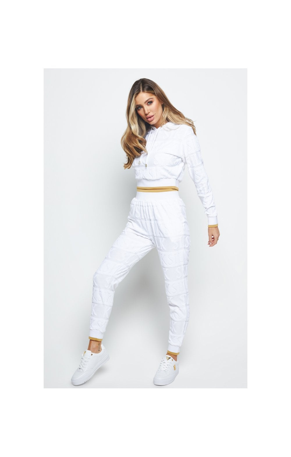 SikSilk Inverse Cropped Hoodie - White (5)