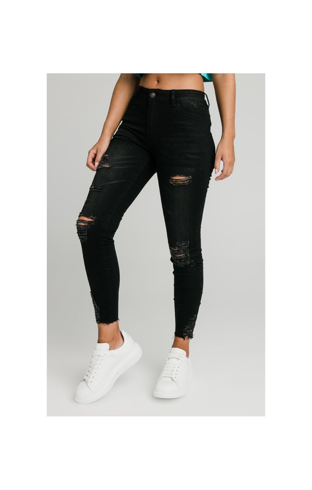 SikSilk Skinny Denims - Black