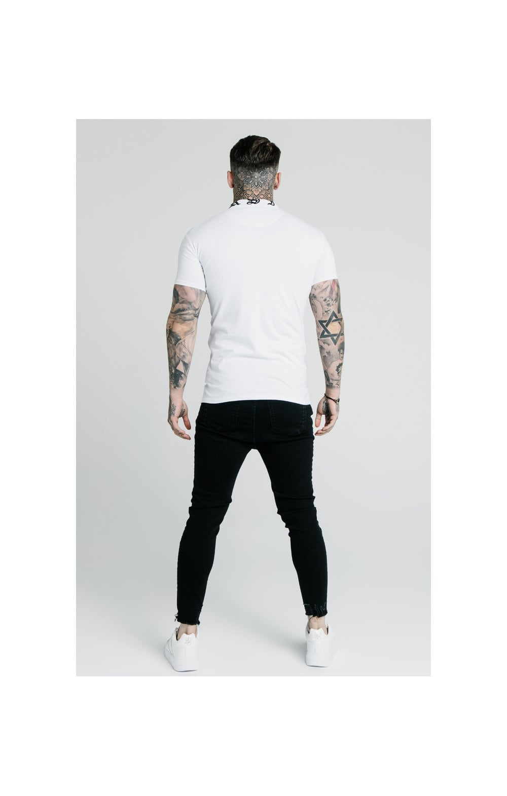 SikSilk Cropped Raw Hem Denims - Black (6)