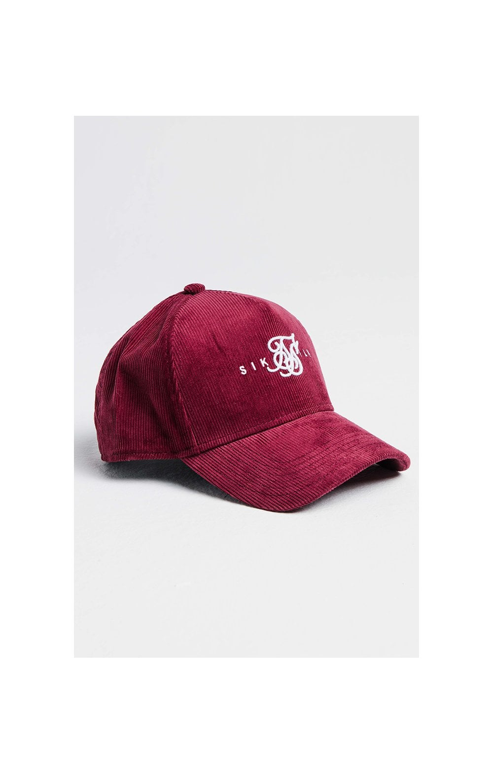 SikSilk Full Cord Trucker - Burgundy