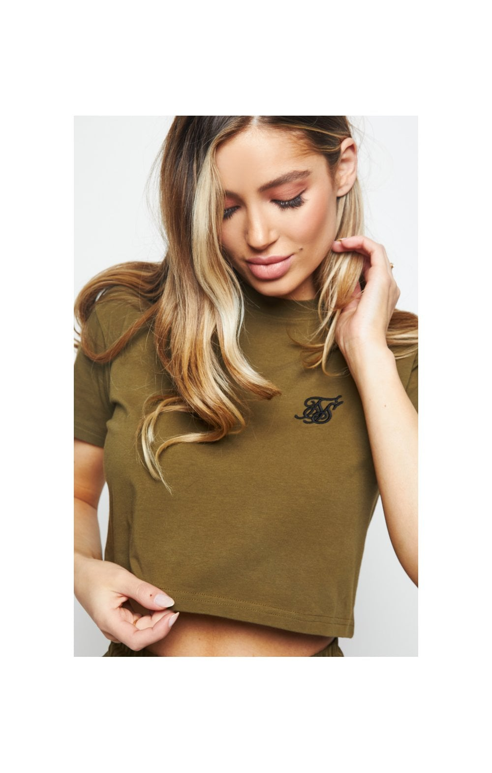 SikSilk Retro Fit Box Tee - Khaki