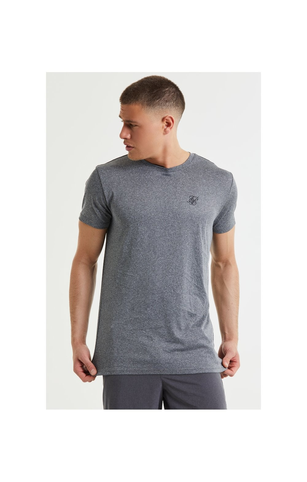 SikSilk Core Poly Tee - Grey Grindle