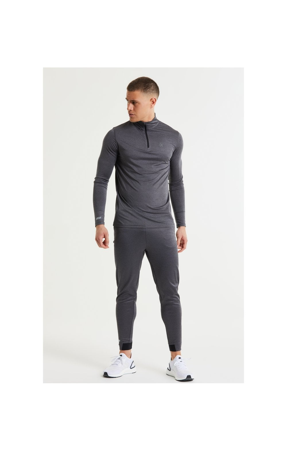 SikSilk Pressure Zip Funnel Neck - Charcoal Marl (5)