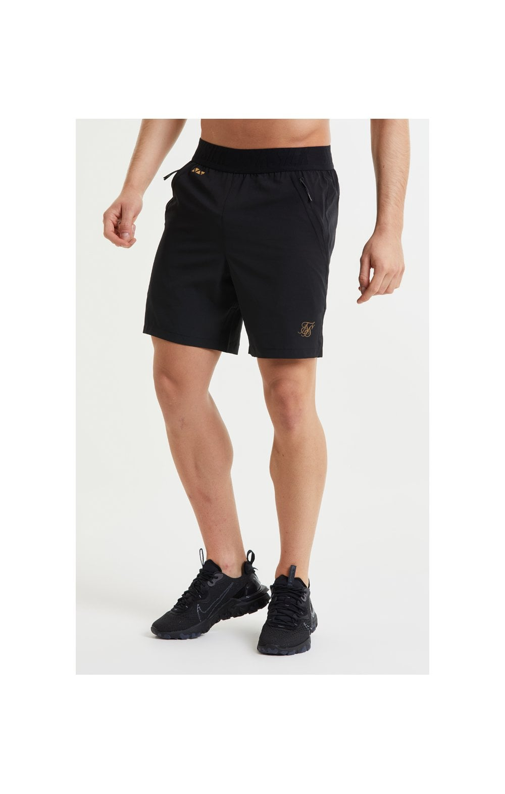 SikSilk Pressure Woven Long Shorts - Black