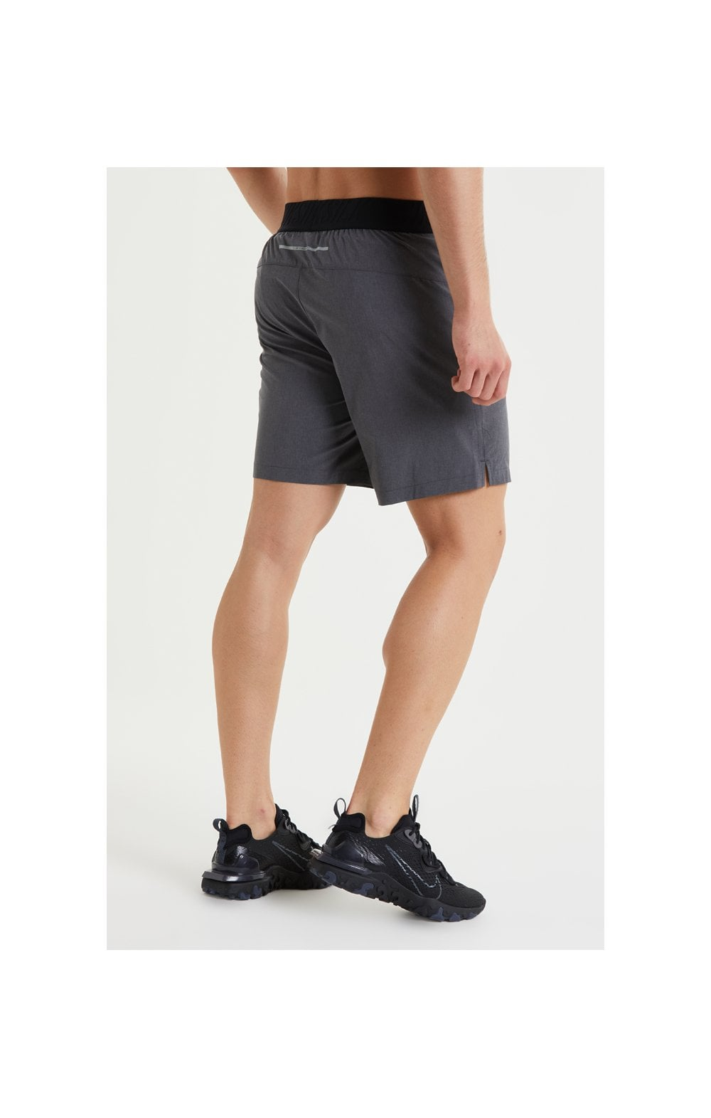 SikSilk Pressure Woven Long Shorts - Charcoal Marl (4)
