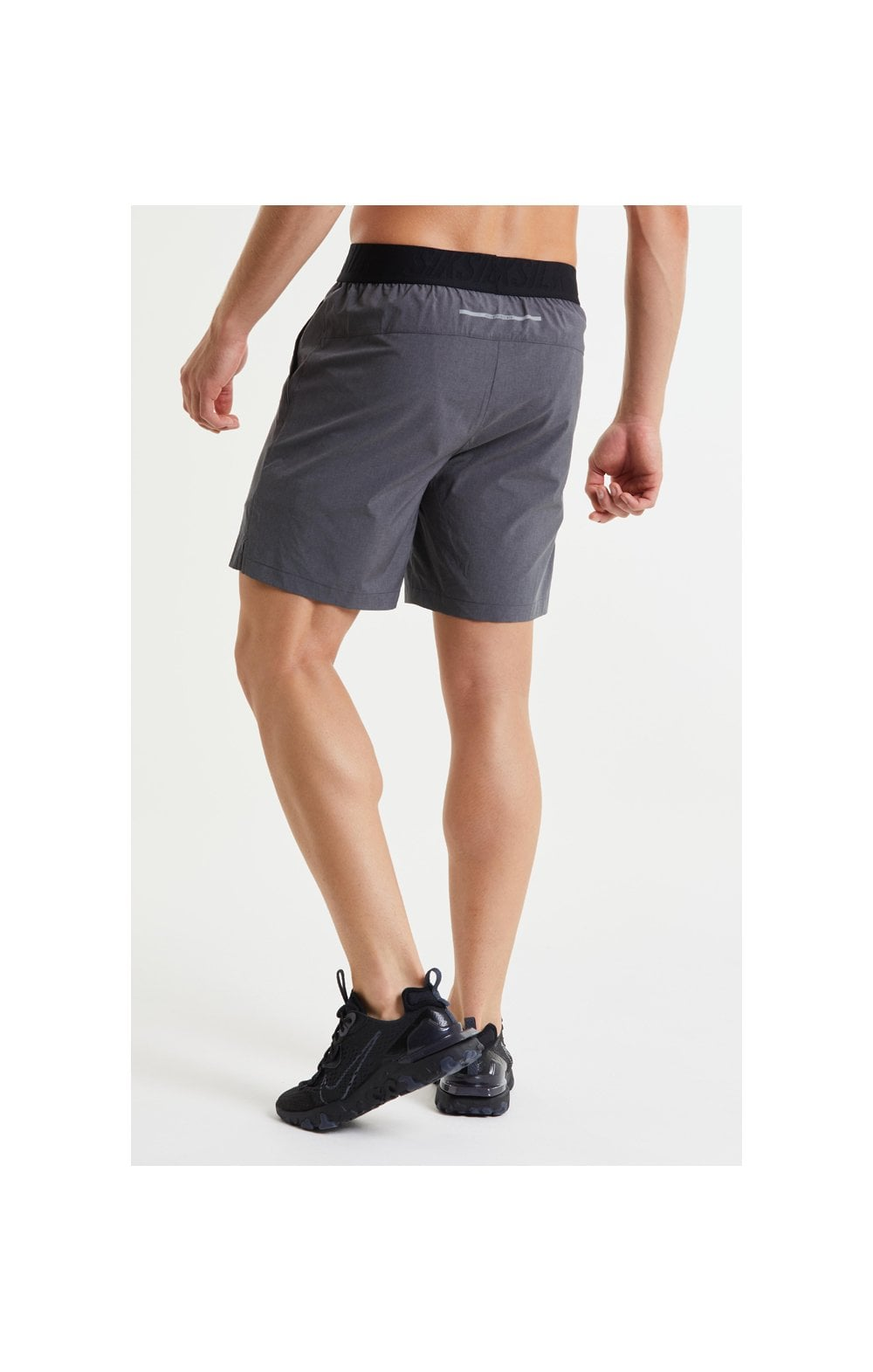 SikSilk Pressure Woven Long Shorts - Charcoal Marl (5)