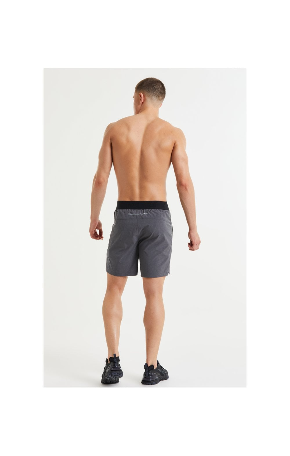 SikSilk Pressure Woven Long Shorts - Charcoal Marl (6)