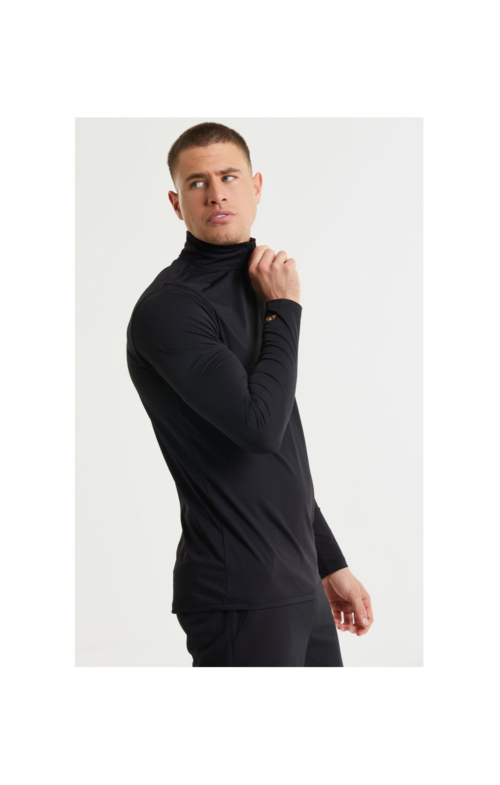 SikSilk Pressure Zip Funnel Neck - Black (2)