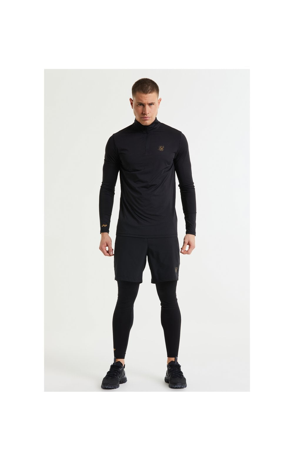 SikSilk Pressure Zip Funnel Neck - Black (1)