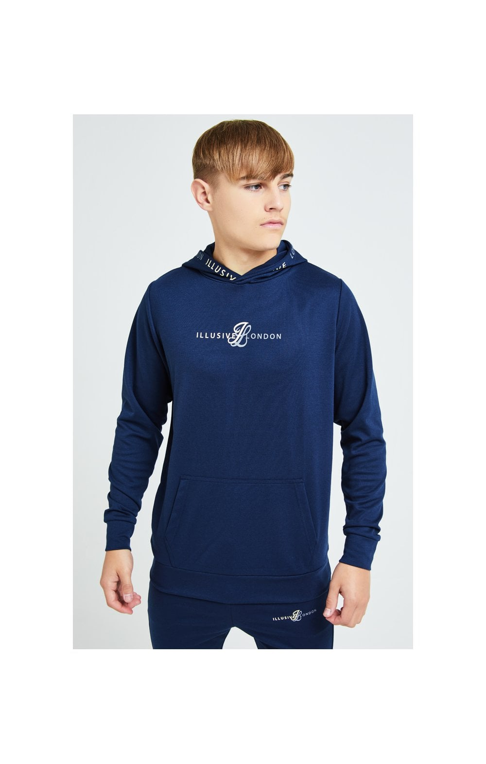 Illusive London Legacy Overhead Hoodie - Navy