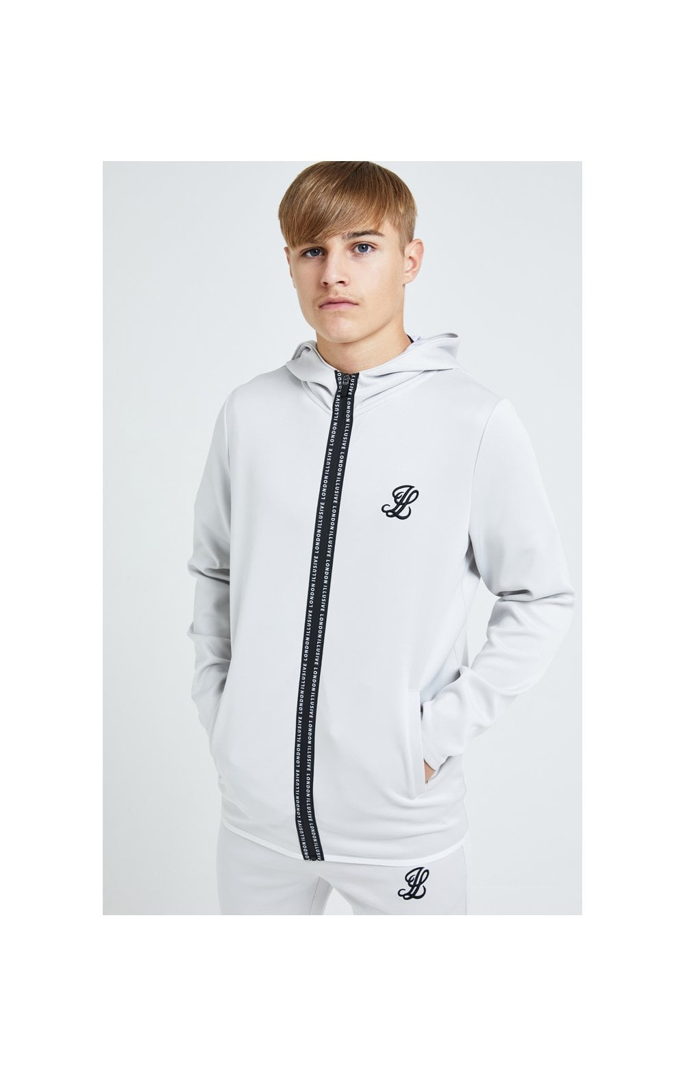 Illusive London Apex Agility Zip Through Hoodie - Grey