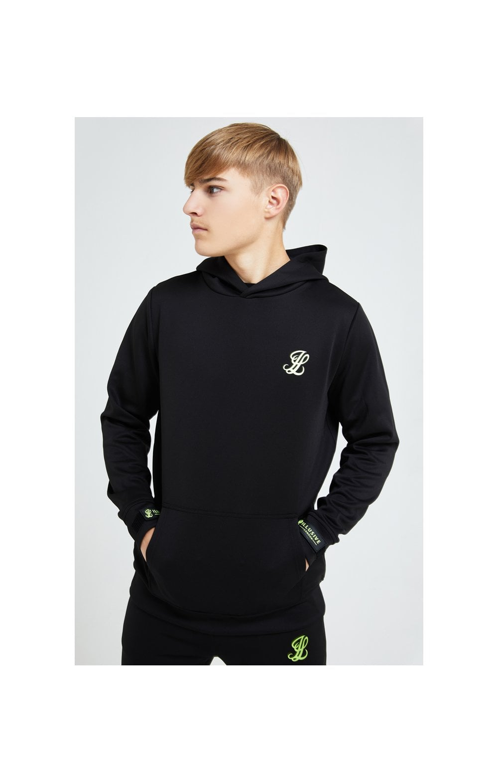 Illusive London Element Overhead Hoodie - Black & Green
