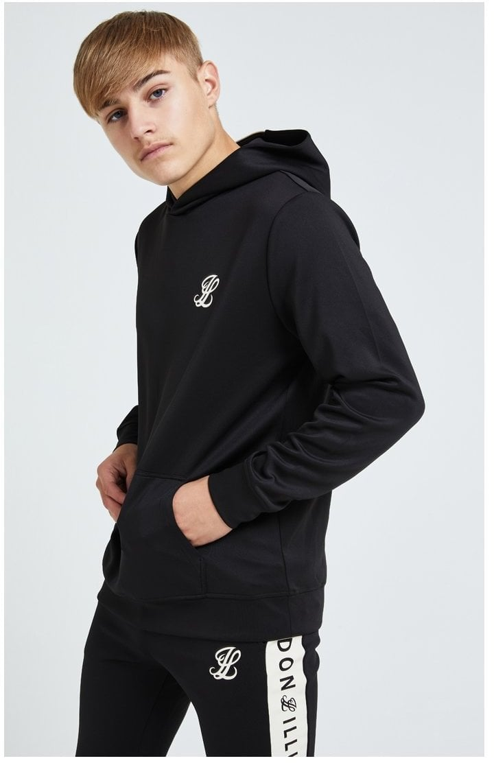 Illusive London Erupt Overhead Hoodie - Black & Cream
