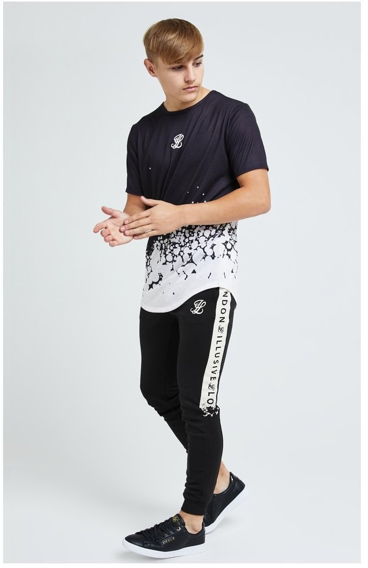 Illusive London Erupt Joggers - Black & Cream