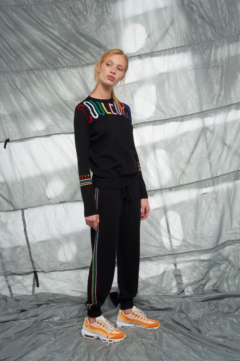 Multi Stripe Knit Track Pants