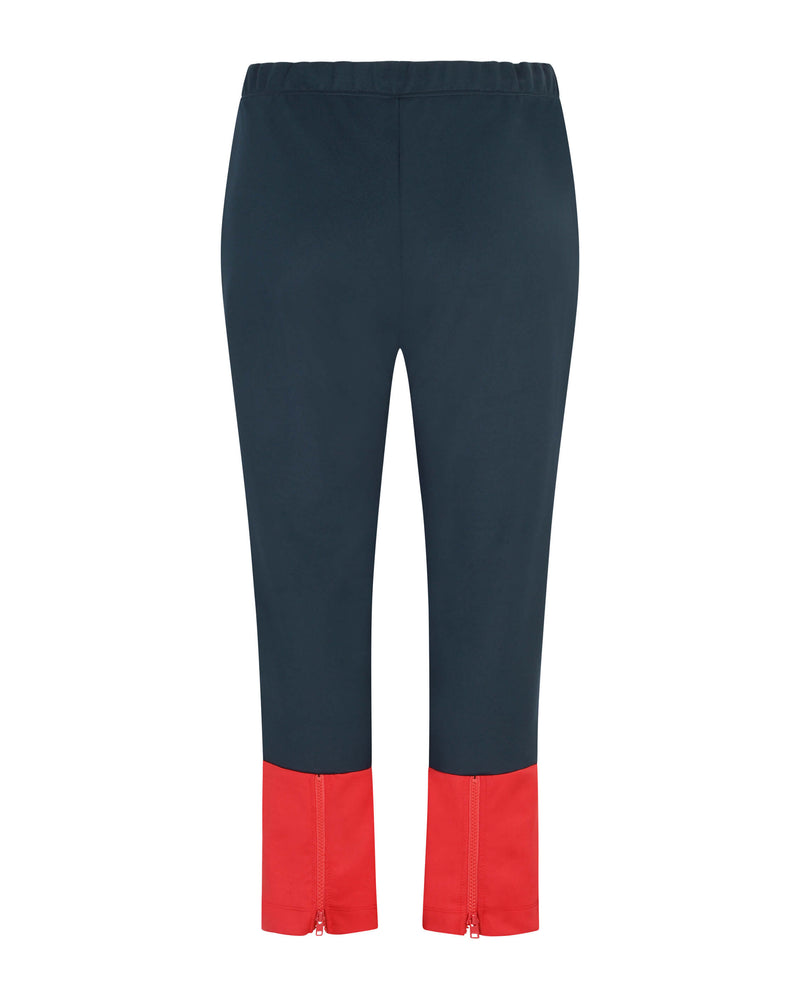 Colour Block Crop Zip Retro Track Pants