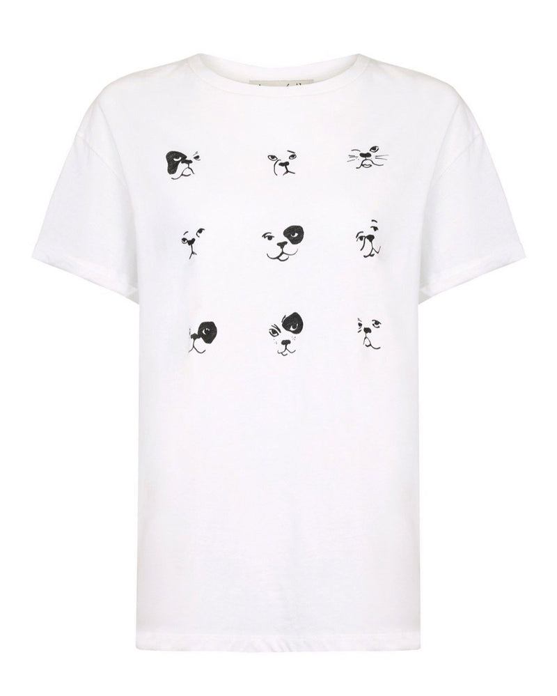 Dog Grid Oversize T-shirt