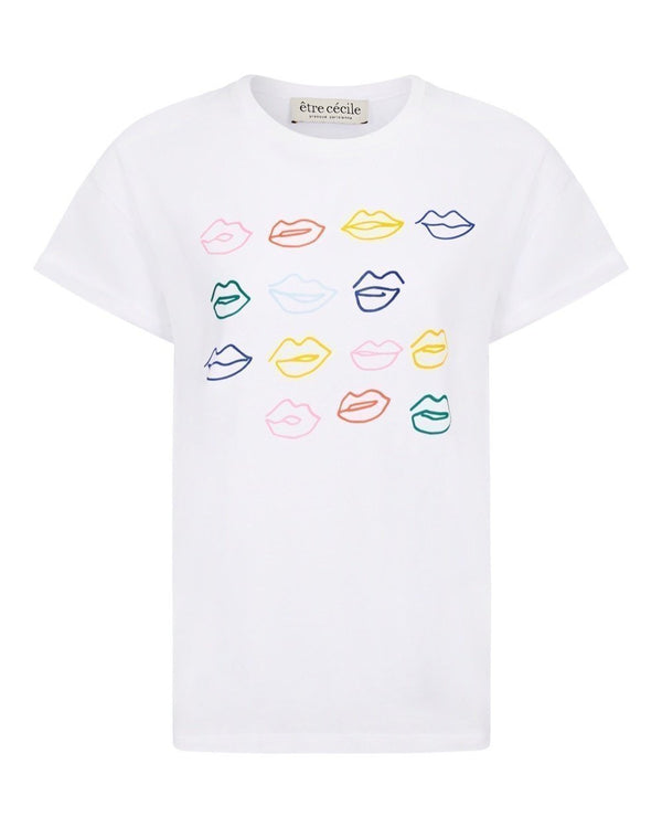 Kiss Grid And Miss You Bisou Oversize T-shirt