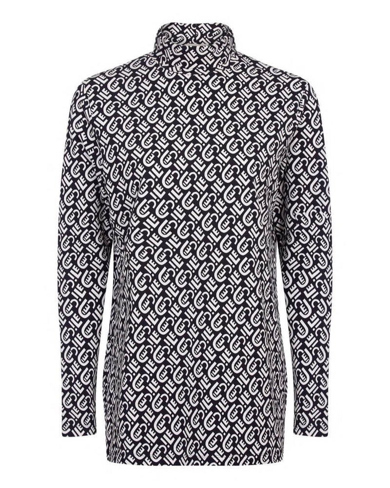 Cecile All Over Long Sleeve Roll Neck T-shirt