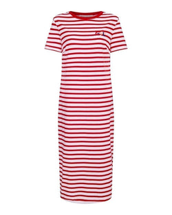 Cecile Patch Short Sleeve Maxi Dress