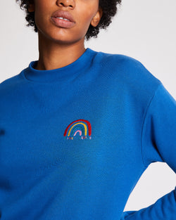 Rainbow Patch Boyfriend Sweatshirt