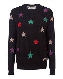 Star All Over Round Neck Knit