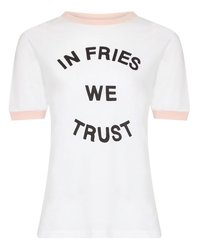 In Fries We Trust Ringer T-shirt