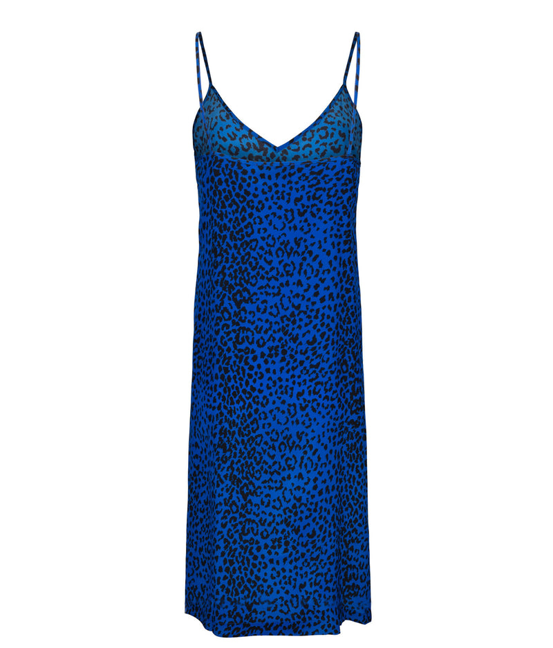 Animal Print Mini Slip Dress