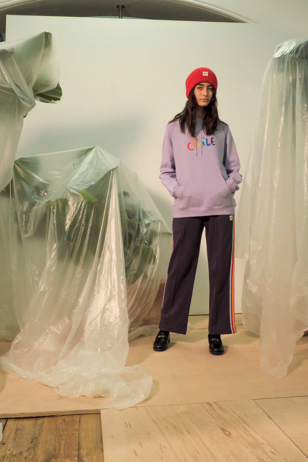 Cecile Gradient Embroidery Oversized Hoodie