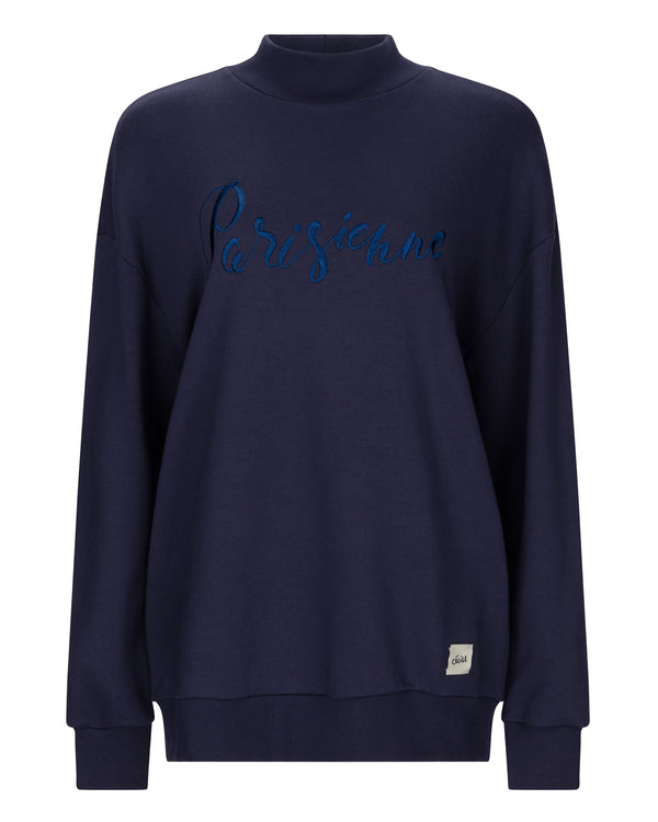 Parisienne Embroidery Baggy Sweatshirt