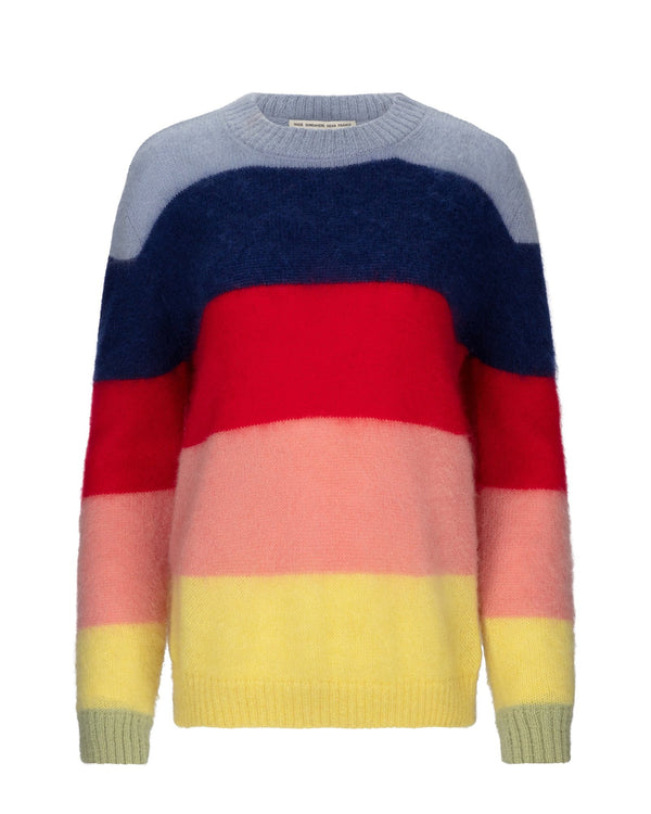 Rainbow Stripe Boxy Knit