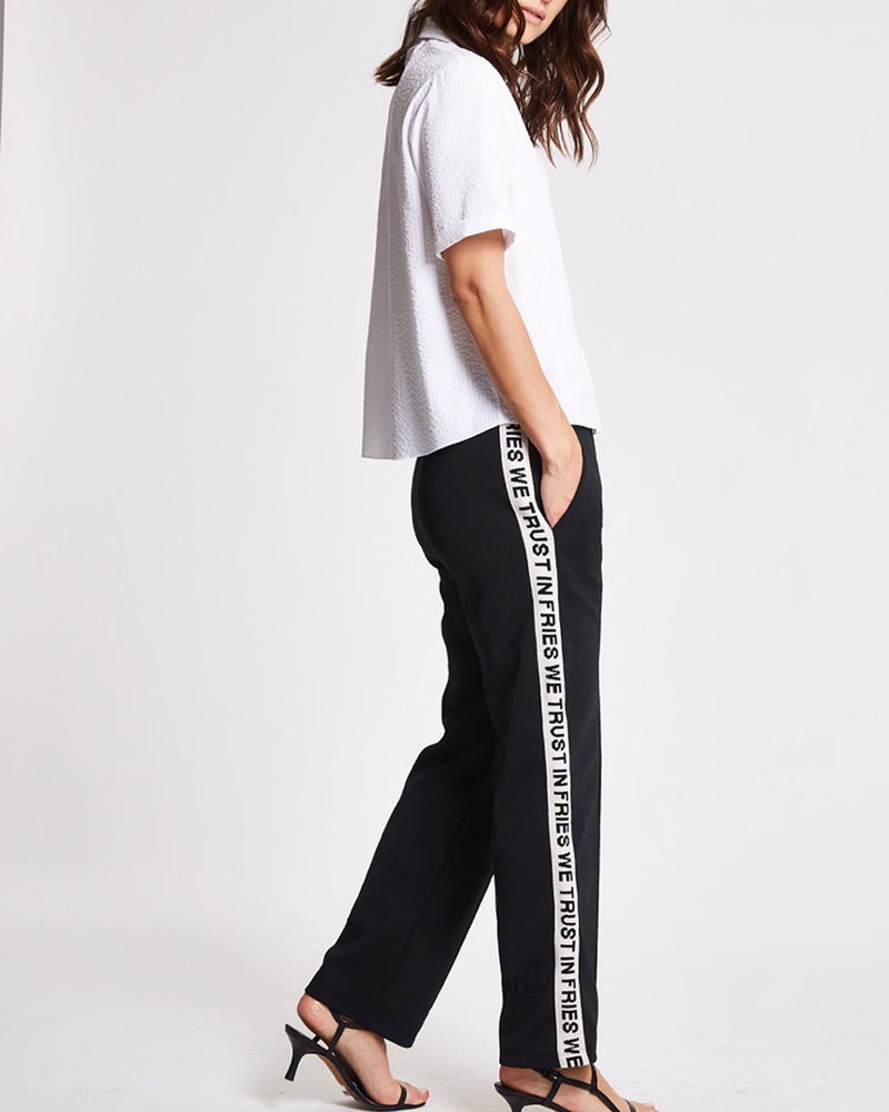 In Fries We Trust Rib Crop Retro Track Pants