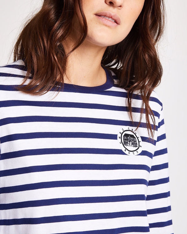 Chez Cecile Club Badge Long Sleeve T-shirt