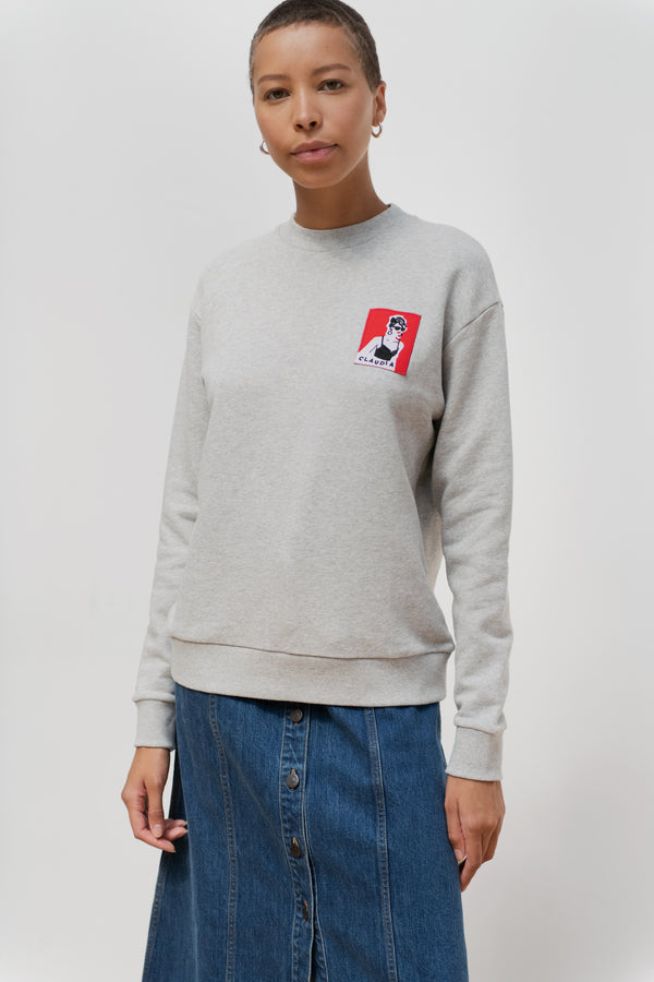 Claudia Schiffer Badge Boyfriend Sweatshirt