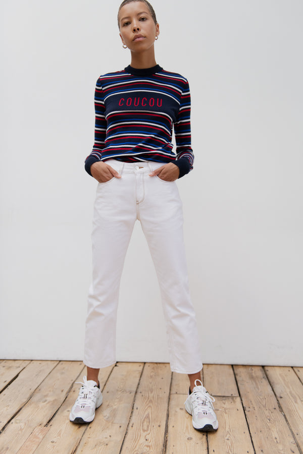 White Slouch Jean