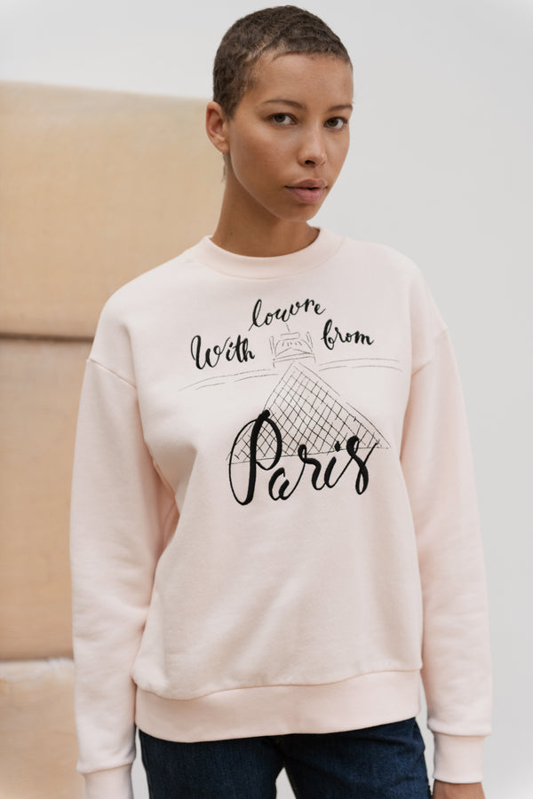 With Lourve From Paris Boyfriend Sweatshirt