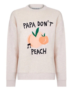 Papa Dont Peach Boyfriend Sweatshirt