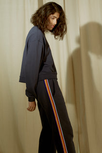 Rainbow Rib Crop Retro Track Pant